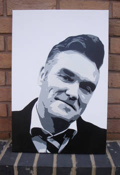 Morrissey - Multilayer Stencil Spray Paint Canvas