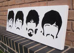 Beatles - Minimal Heads Spraypaint Stencil Canvas
