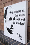 Karl Pilkington - Stencil Spraypaint Quote