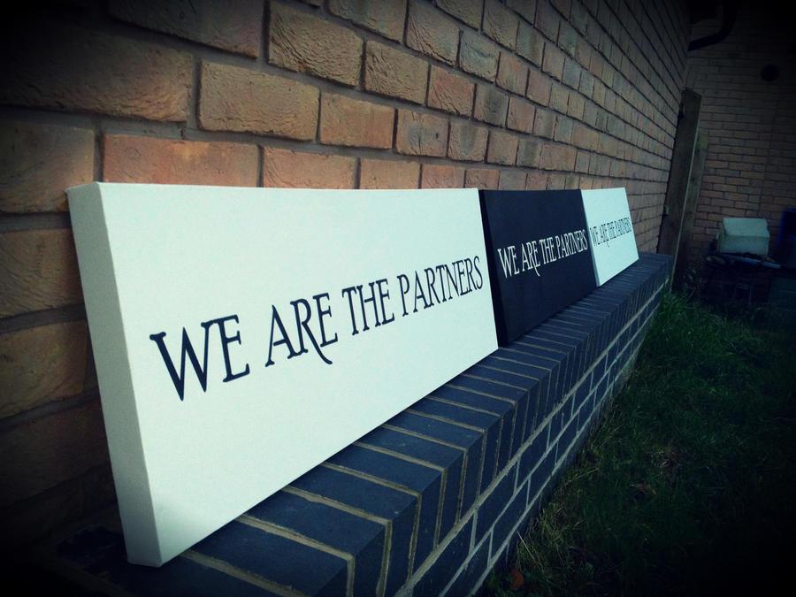 we are the partners spraypaint stencil signage by ramart79 on deviantart. Black Bedroom Furniture Sets. Home Design Ideas
