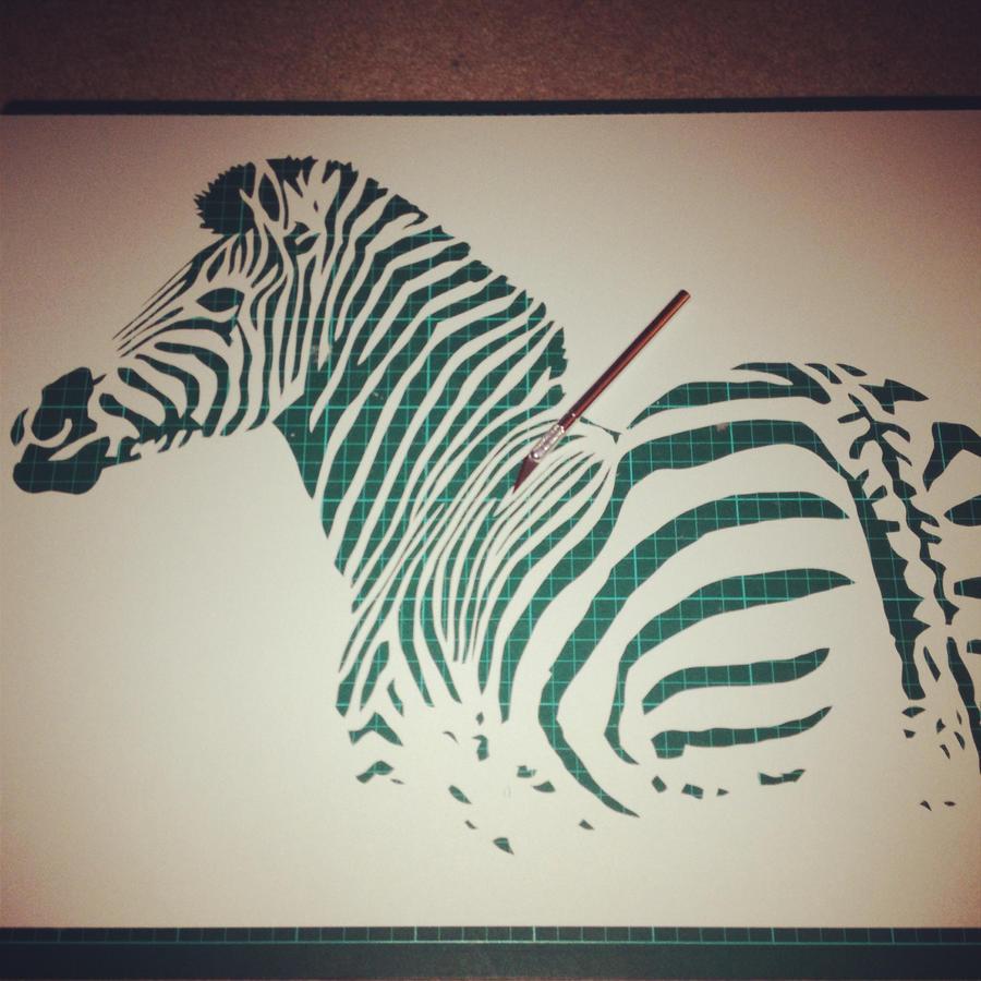 Zebra - One Layer Stencil by RAMART79