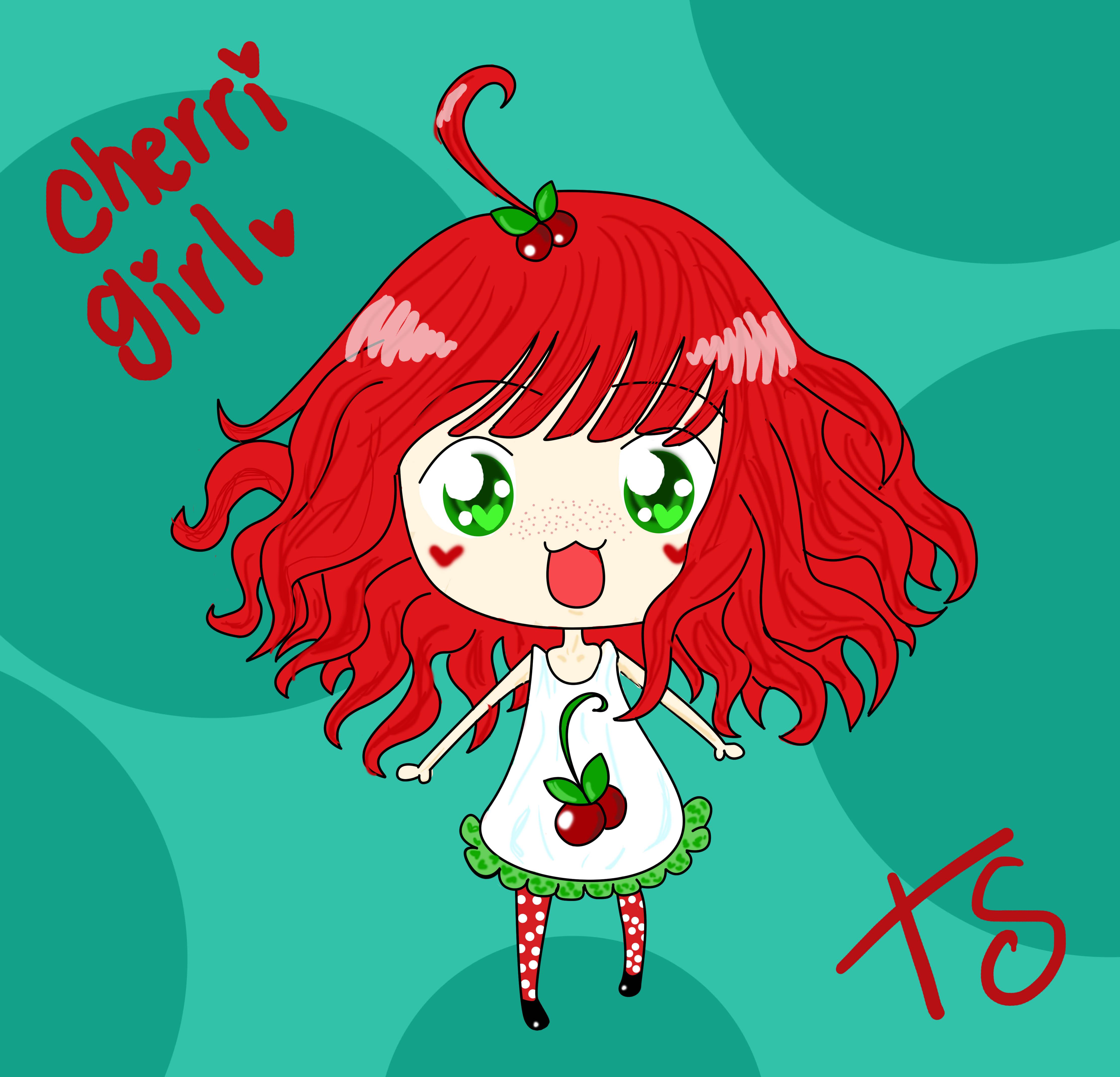 cherry girl chibi by tsubasachroniche