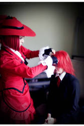 Madame Red and Grell Sutcliff 2/17/2012 by momizuka