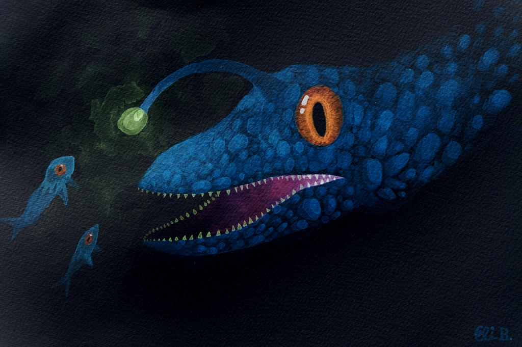 Angler Dragon. by DagonArt