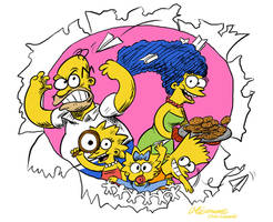 The Simpsons by luismario