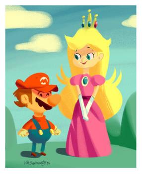 Peach and the Mario