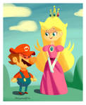 Peach and the Mario