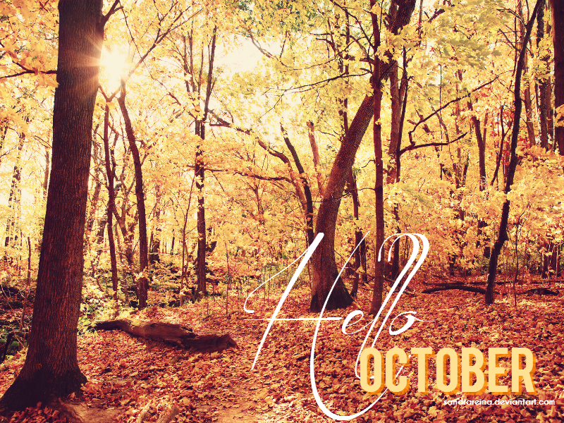 [Wallpaper #3] Hello October by sandrareina on DeviantArt