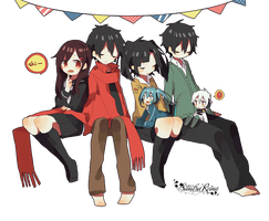 [Render #71] Ayano, Shintarou, Takane and Haruka by sandrareina