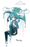 [Render #100] Ene on raining day by sandrareina