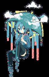 [Render #100] Ene on raining day