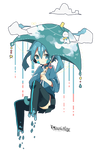 [Render #100] Ene on raining day