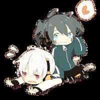 [Render #114] Ene and Konoha Chibi by sandrareina