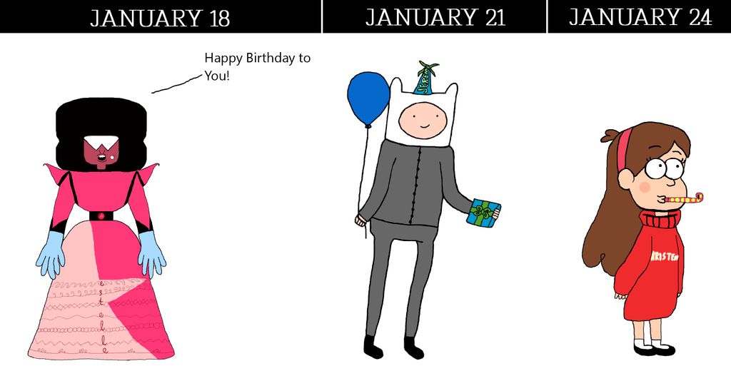 voice actors who celebrate their b-days on January by PencilFromCydonia