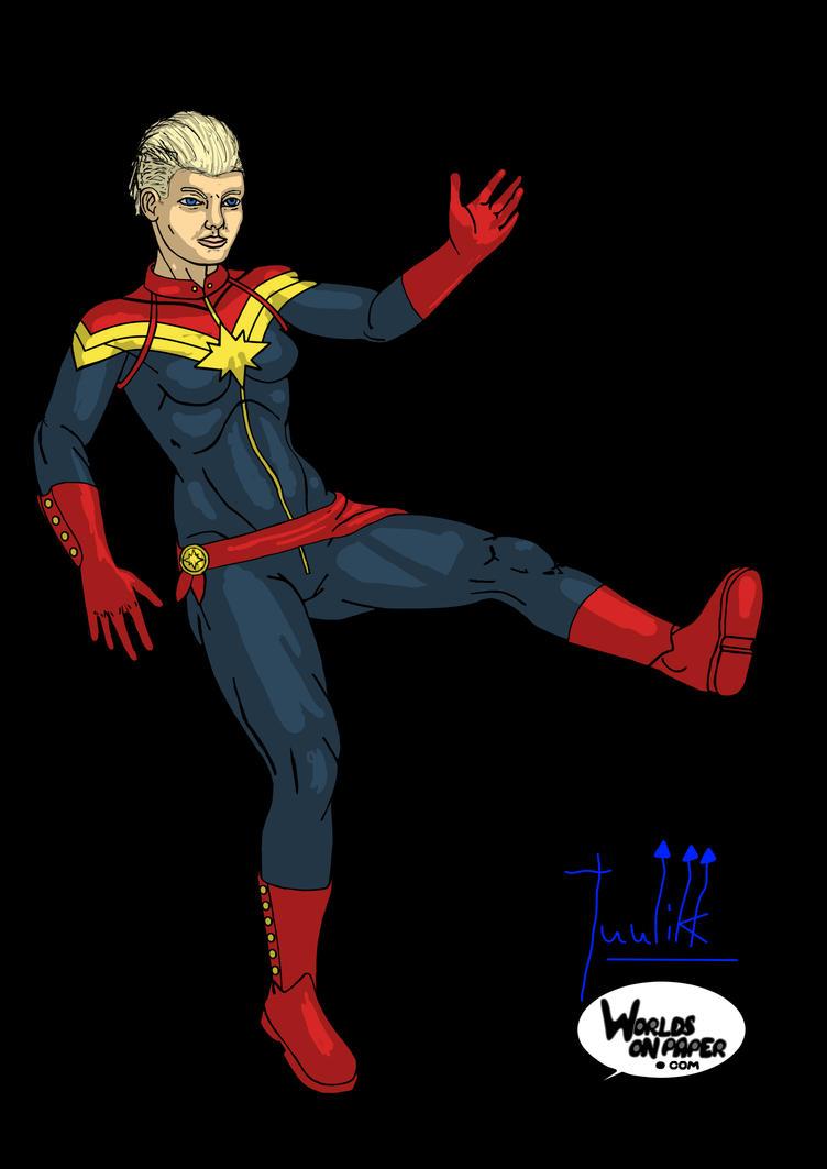Captain Marvel - Color by Tuulikk