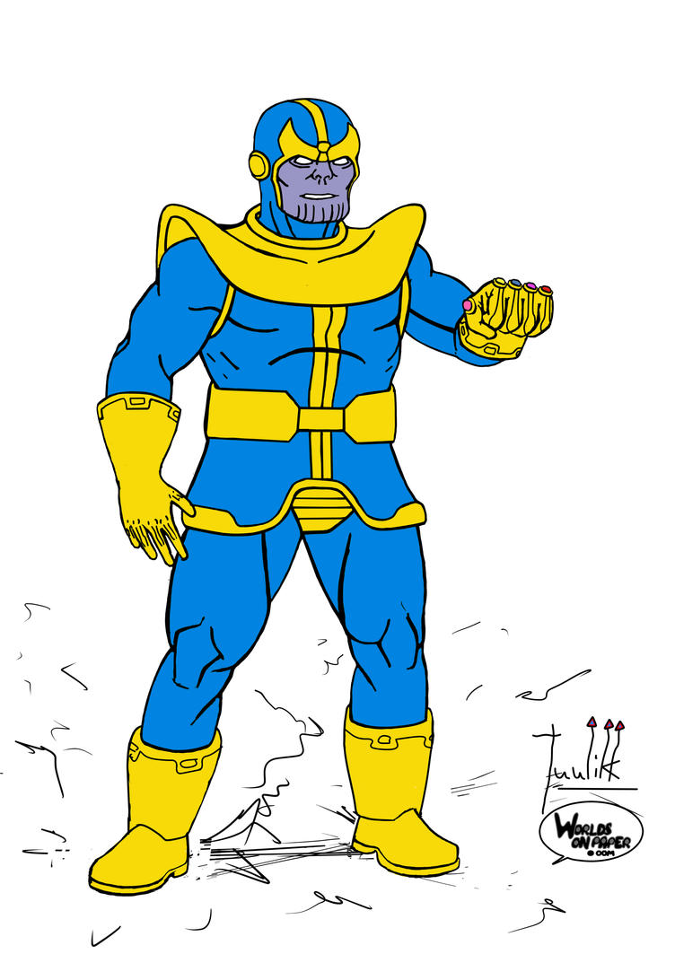 Thanos Standing - Color Version by Tuulikk