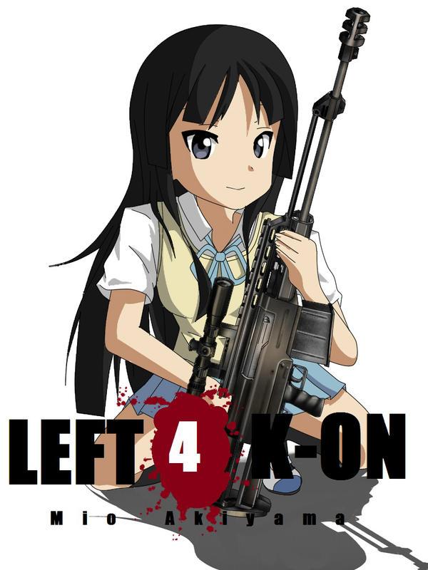 Left 4 K-ON - Mio Akiyama by xZDisturbedZx