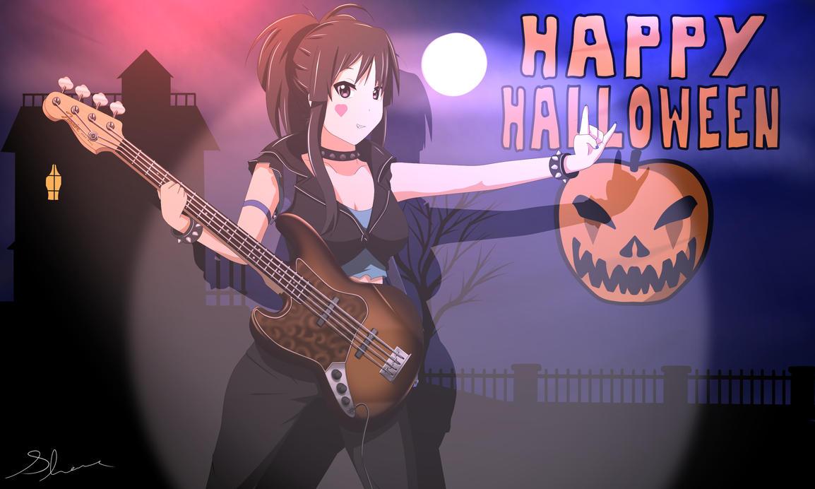 Mio Akiyama - Happy Halloween by xZDisturbedZx