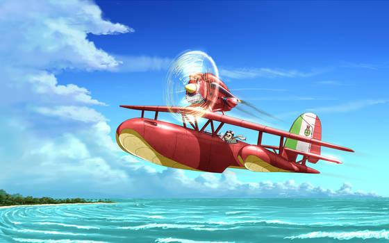 Porco Rosso - Savoia S.21 Seaplane
