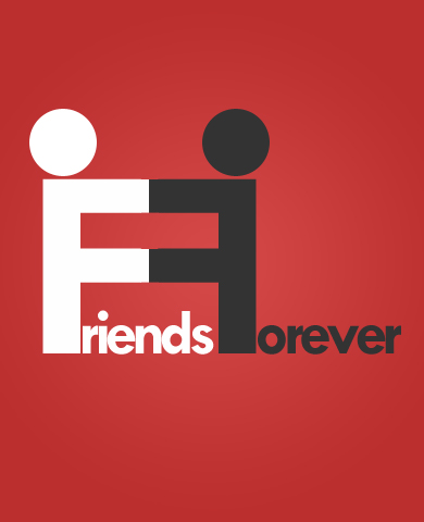 Friends Forever - Typographic by saurabhkhirwal