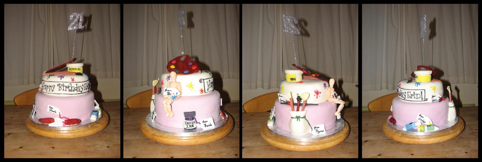 21st Birthday Cake By Stephanie Chivas On Deviantart