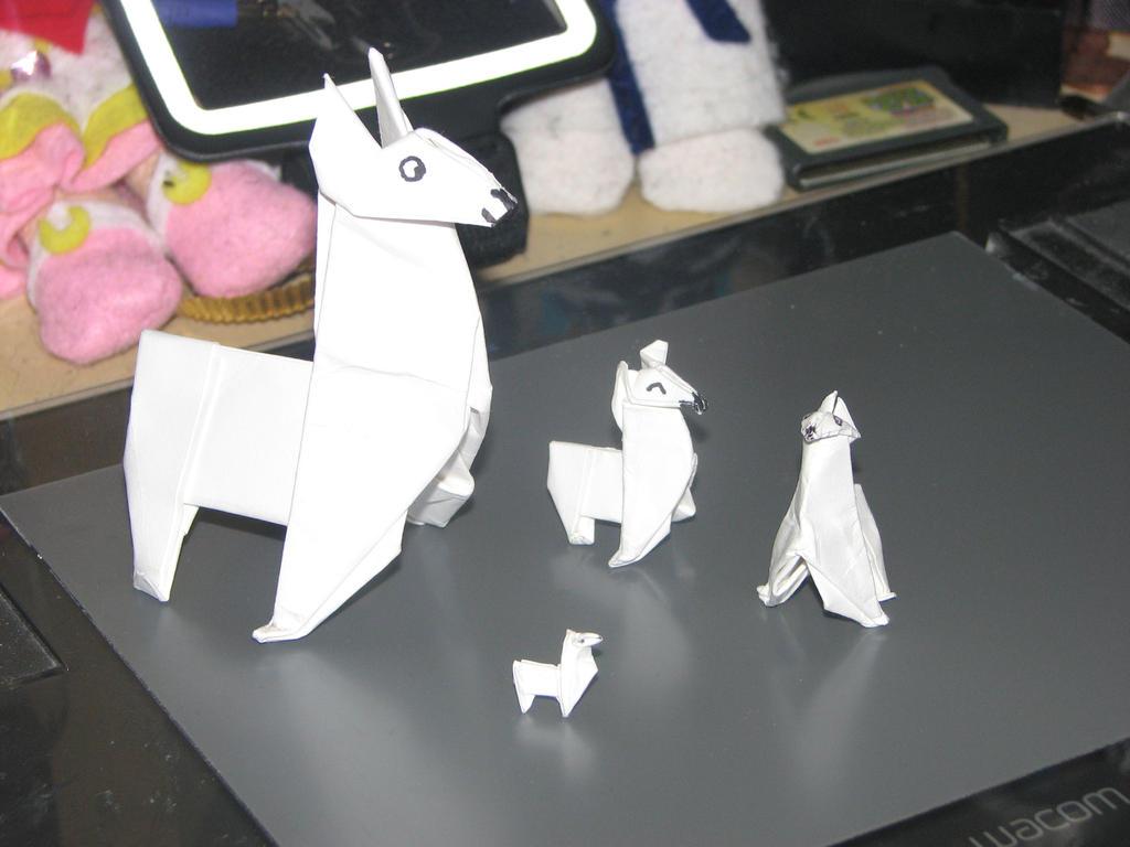 Origami Llamas X3 By Stephanie Chivas On Deviantart