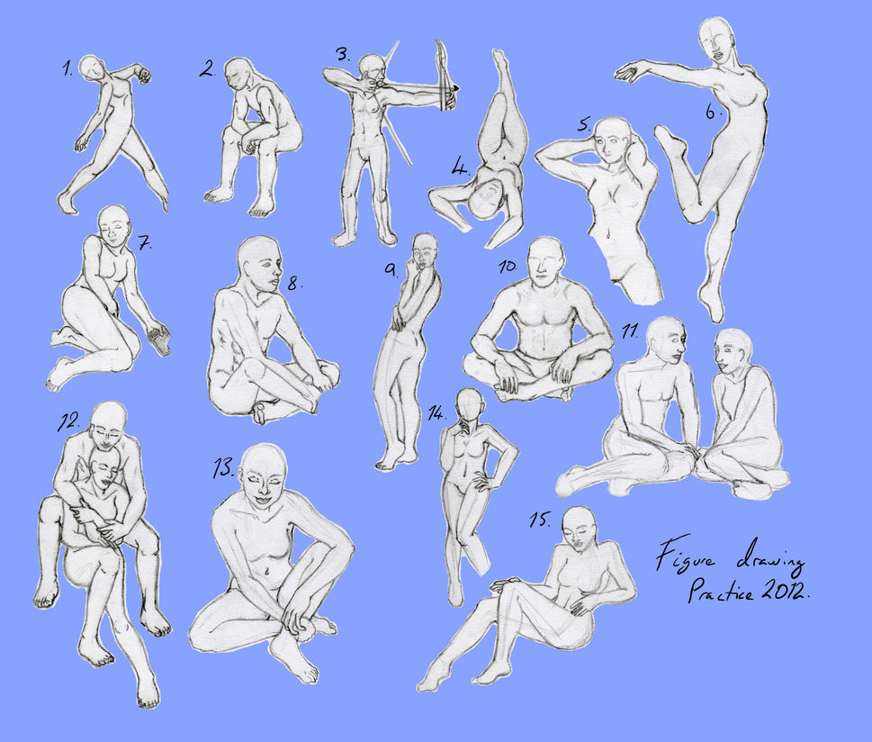 Figure drawing practice by Stephanie-Chivas on DeviantArt