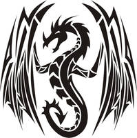 tribal dragon 4 by jhin22000