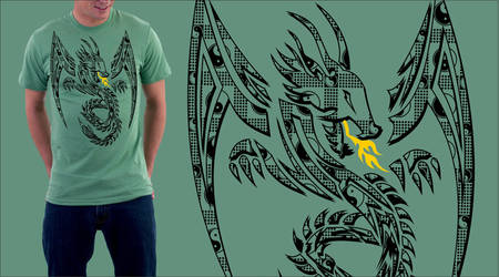 tribal dragon shirt by jhin22000