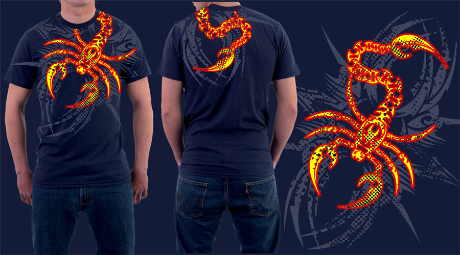 scorpion t-shirt by jhin22000