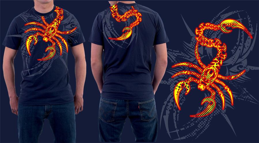 scorpion t-shirt by jhin22000