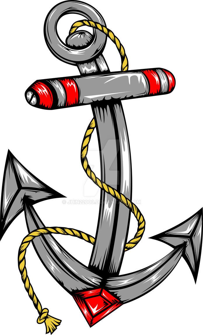 Ship Anchor Tattoo by jhin22000