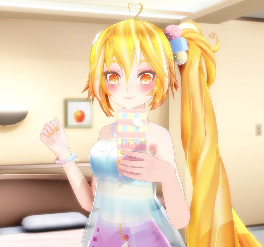 Mmd Cute Akita Neru Render By Garoud On Deviantart