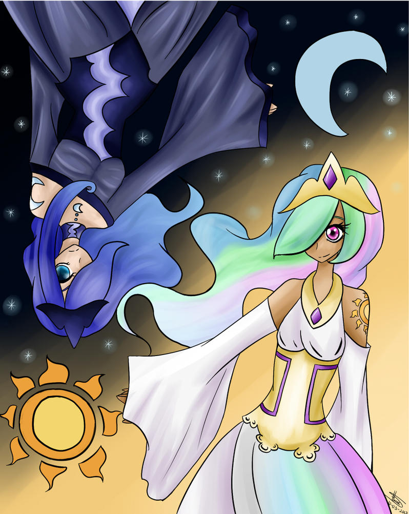 Celestia and Luna - Human version by HH-Anime-HH on DeviantArt