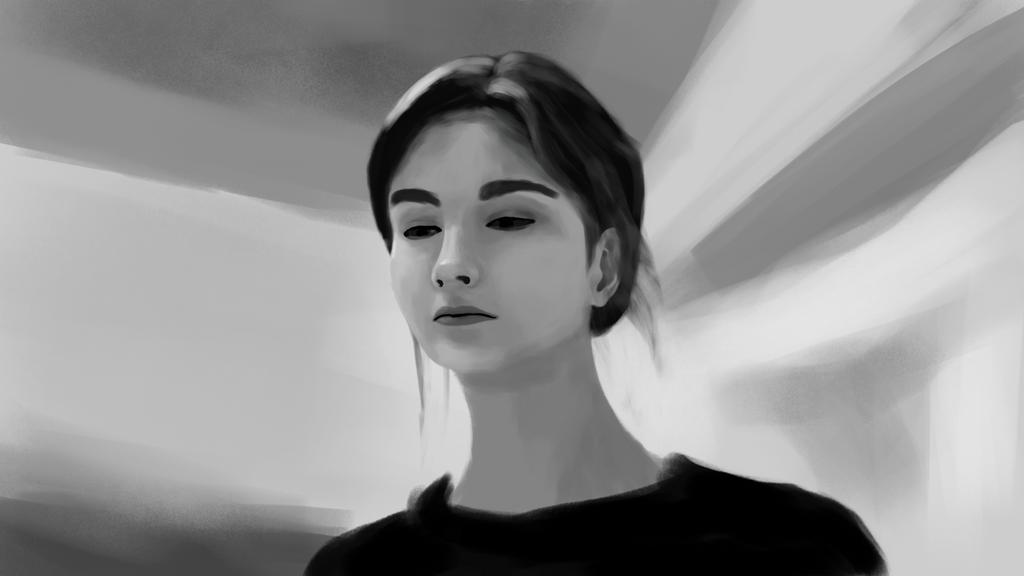 portrait practice  by chas1z3