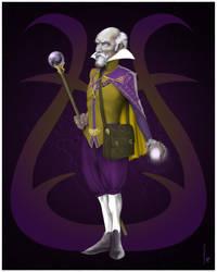 Baroque Wizard Purple + Gold [Poster]