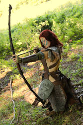 Aela the Huntress cosplay XI by Vermiljona