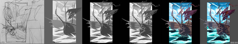 Process of Cursed Sails by The-Knights-Stars