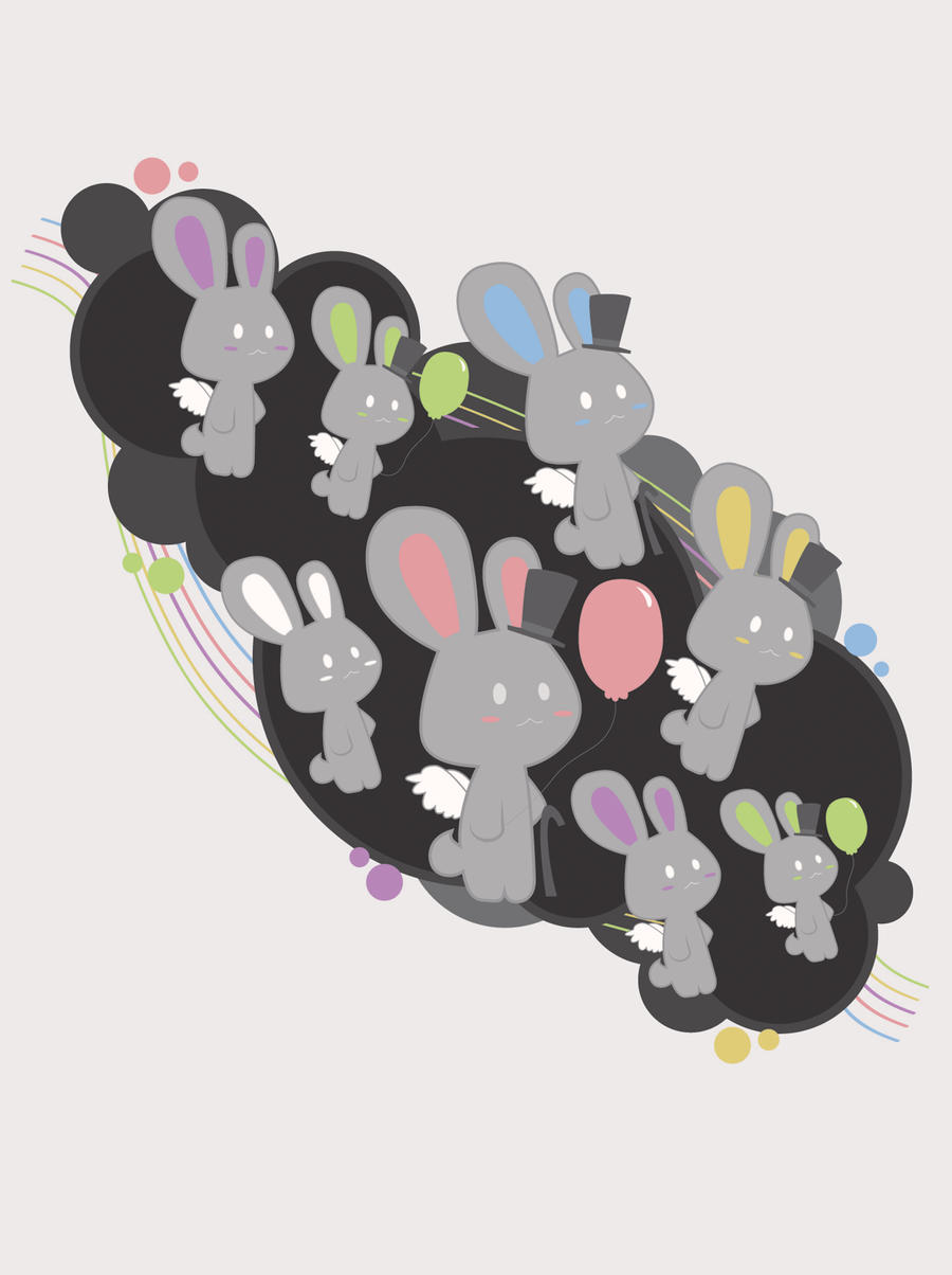 Grey Rabbits by yurike11