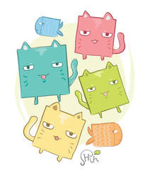 Squarish Cats