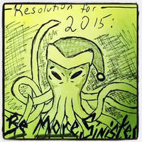 Sinister Christmas Octopus New Year