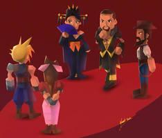 Final Fantasy VII Remake: The Wall Market Trio
