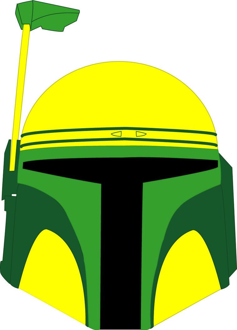 Oregon Ducks Bobba Fett Helmet Vector (3 of 3) by ...