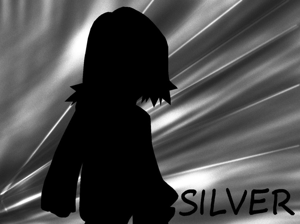 Vampire Profile Silhouette Pokespe Silhouette-SILVER by