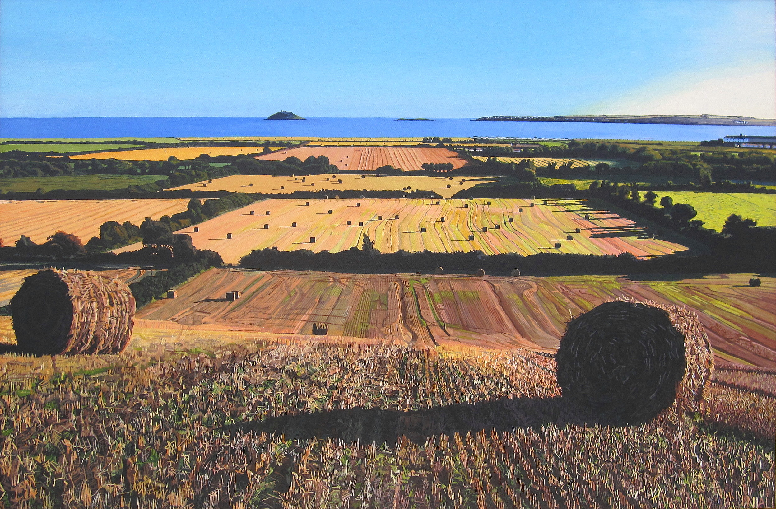 Autumnal View of Garryvoe (higher resolution) by eastcorkpainter