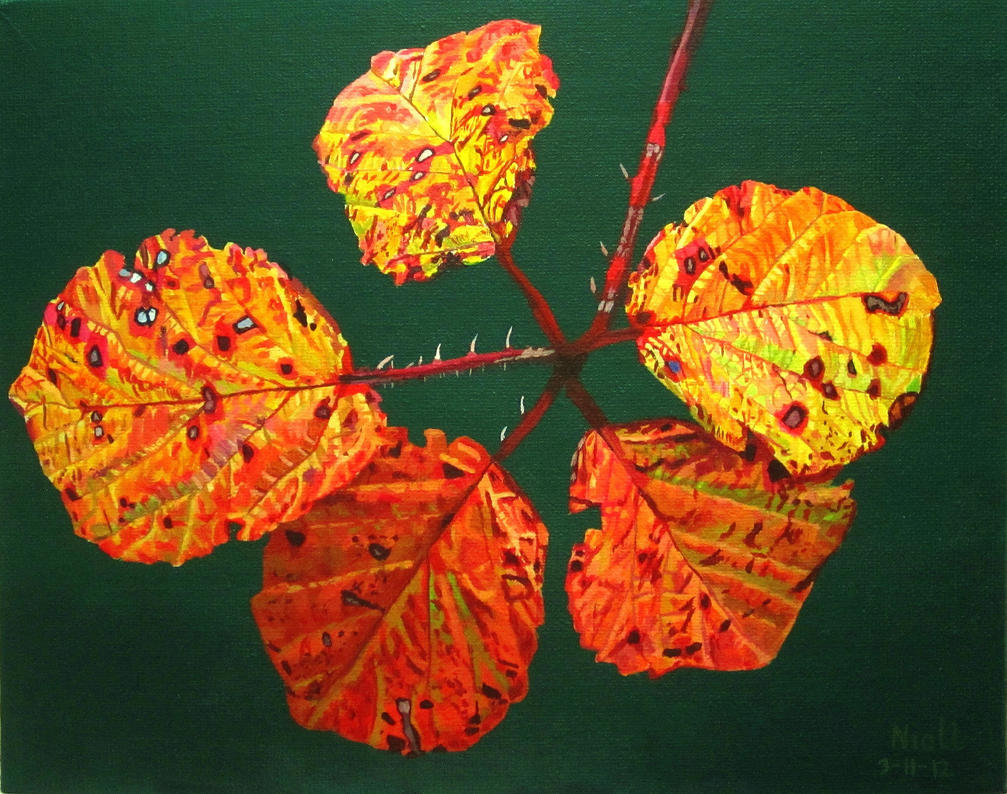 Autumnal Briar Leaves by eastcorkpainter