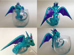 Blue and Purple Dragon Candle