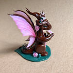 Pink Fairy Winged Clay Dragon