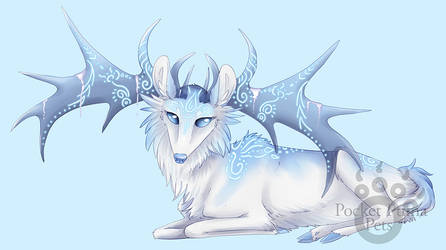 Ice Stag by EvlonArts