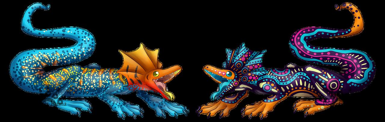 Frilled Lizards